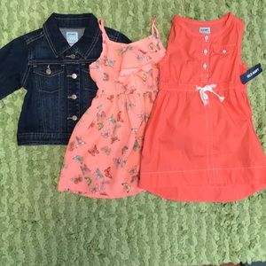 Girls lot jacket and dresses size 2T NEW!